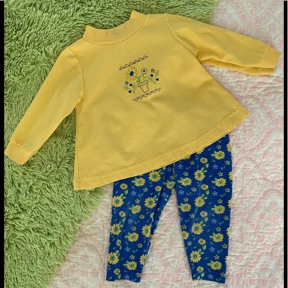 healthtex Other - Girls Healthtex Shirt & Sunflower Leggings Set P4